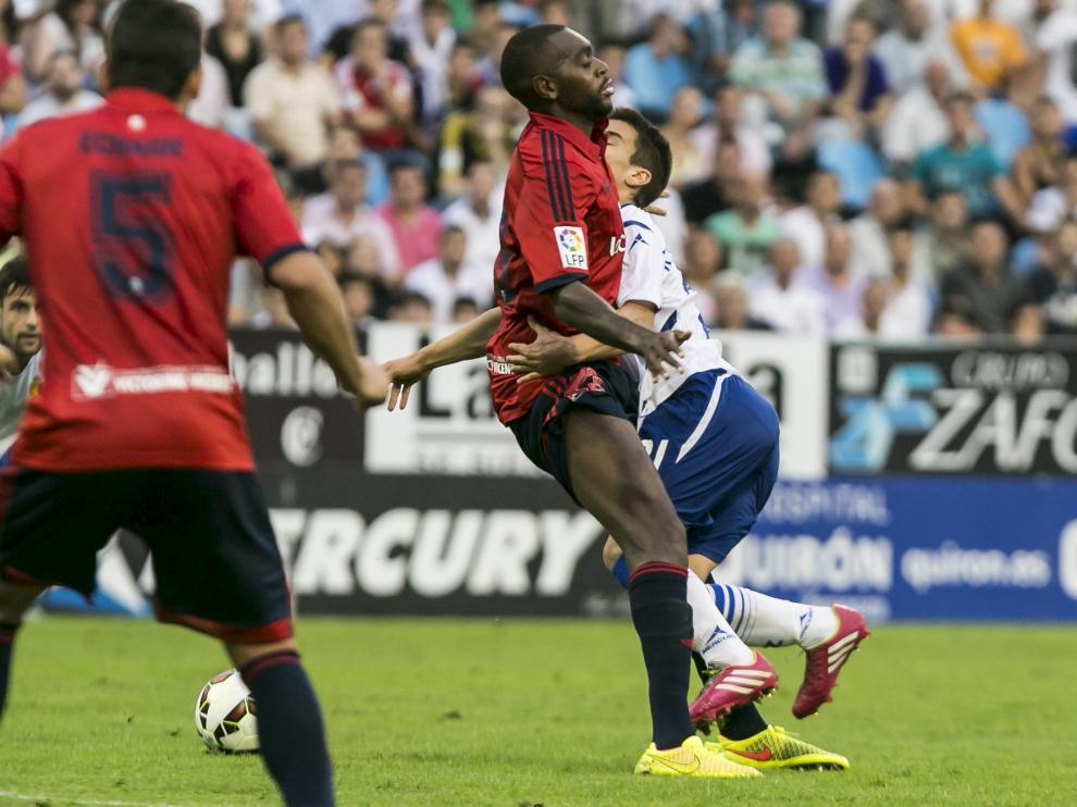 Una imagen del partido de ida entre el Real Zaragoza y el Osasuna