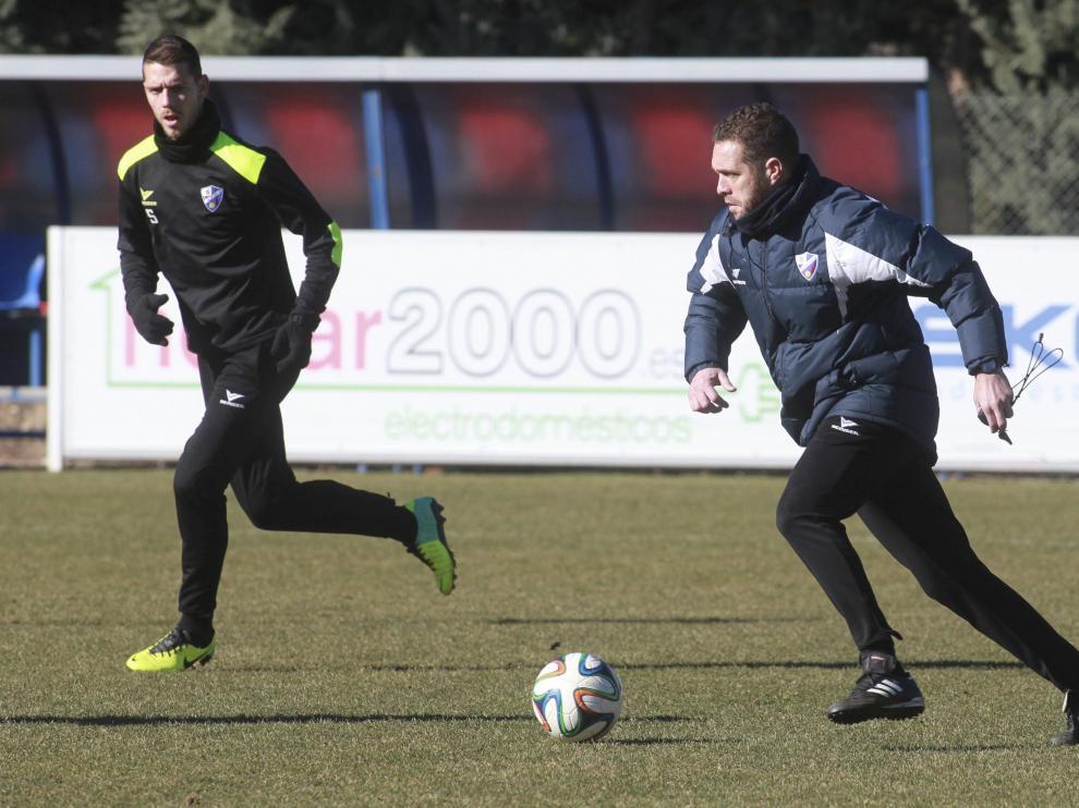 Un entrenamiento de la SD Huesca
