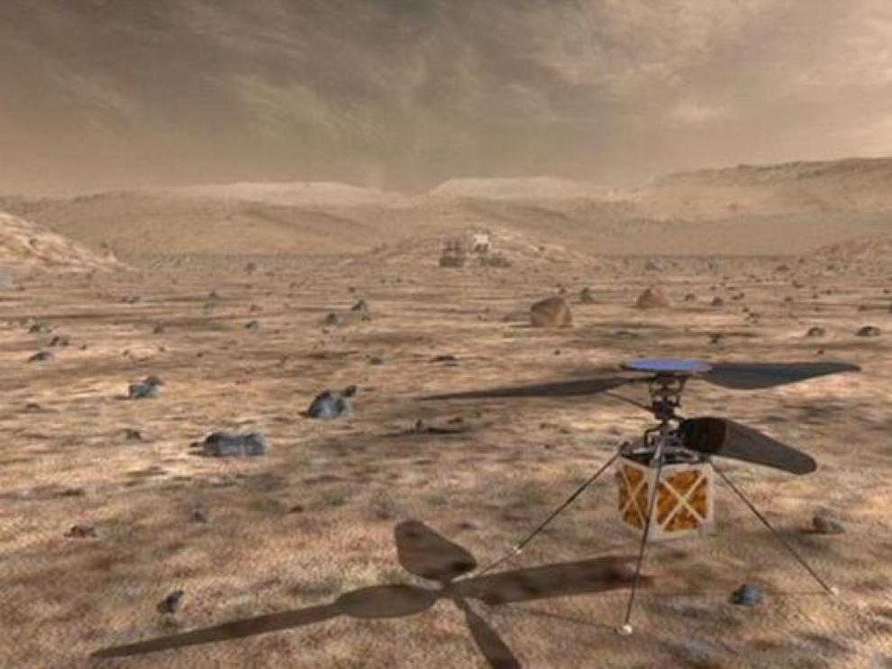 La NASA diseña un drone explorador para robots en Marte