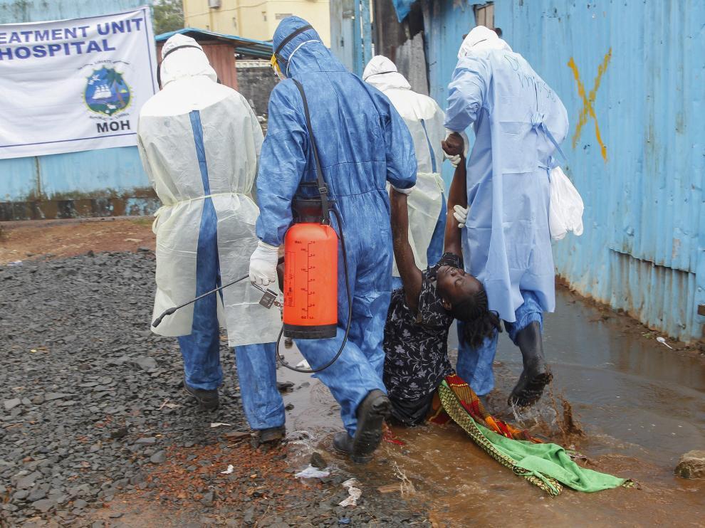 Médicos del Mundo gestiona en la ciudad sierraleonesa de Moyamba un centro de tratamiento de ébola