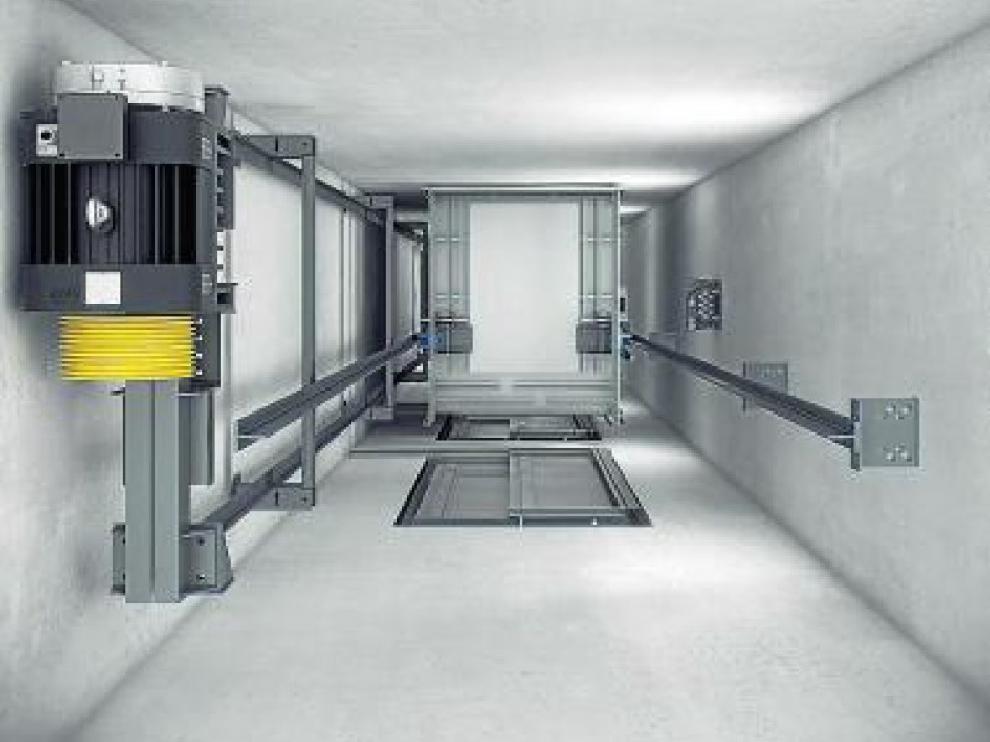 El nuevo ascensor MP Go Evolution, visto desde arriba.