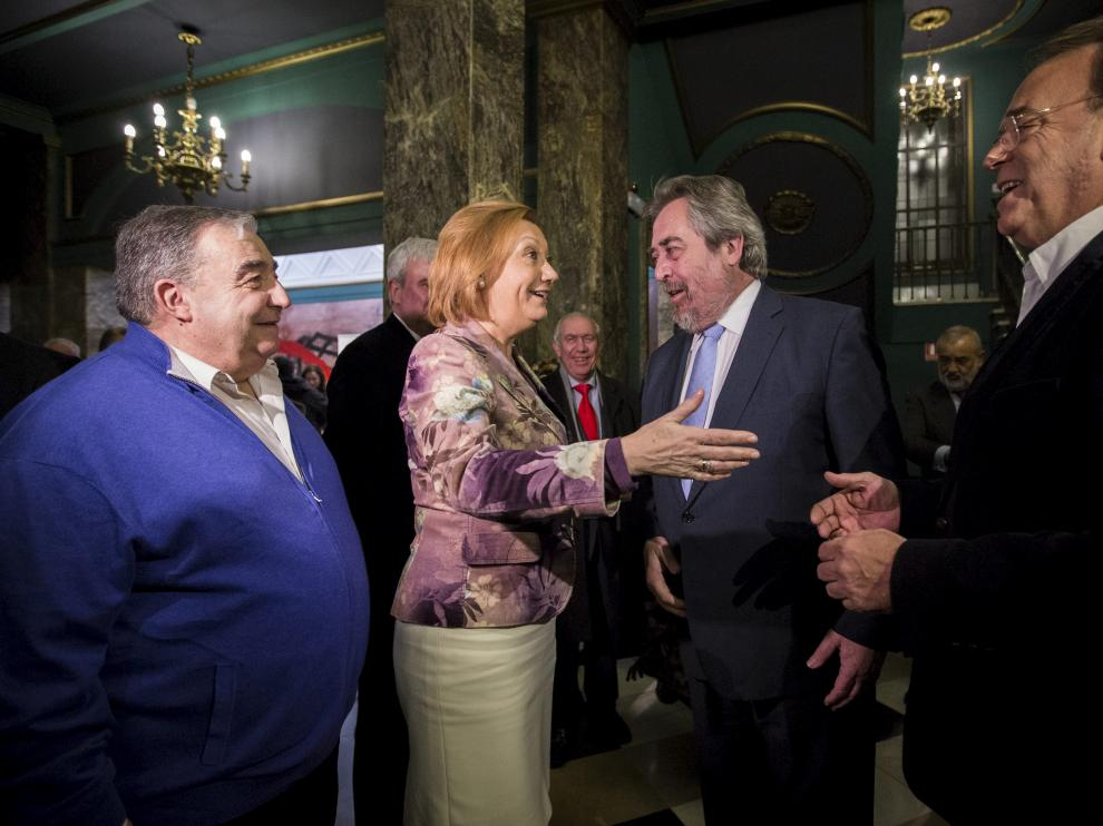 Perez Anadón, con Belloch y Rudi
