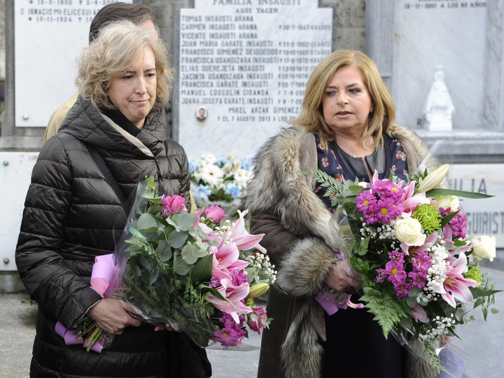 Consuelo Ordóñez (d) en el homenaje a las víctimas del terrorismo