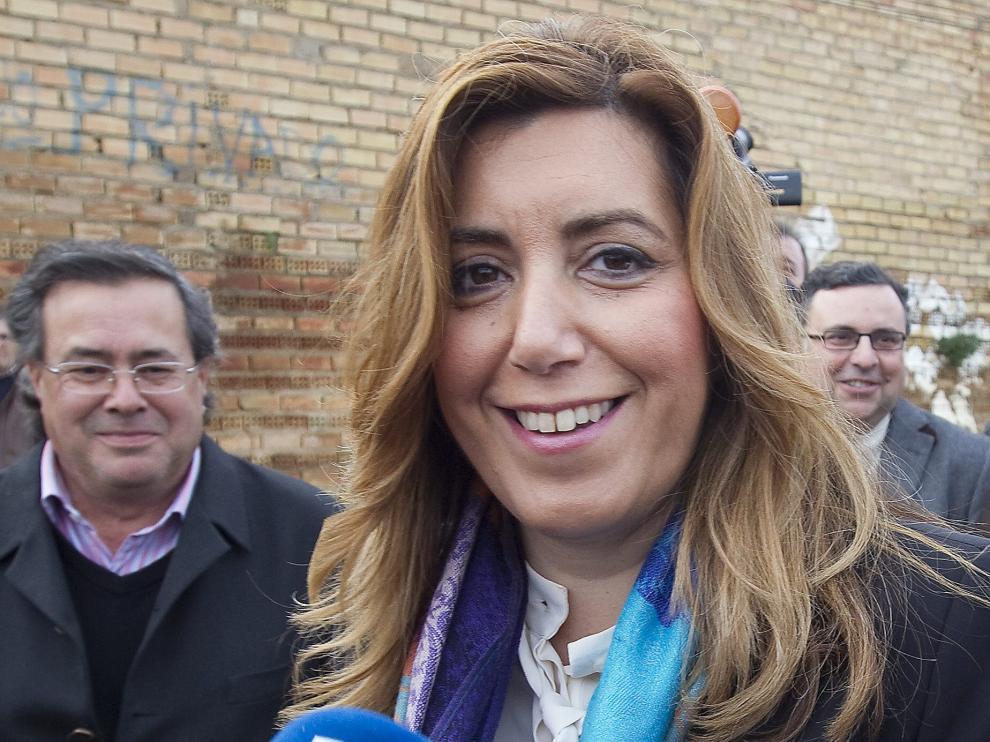 Susana Díaz, en un acto celebrado en Aznalcollar