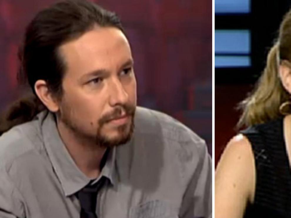 Pablo Iglesias y Tania Sánchez