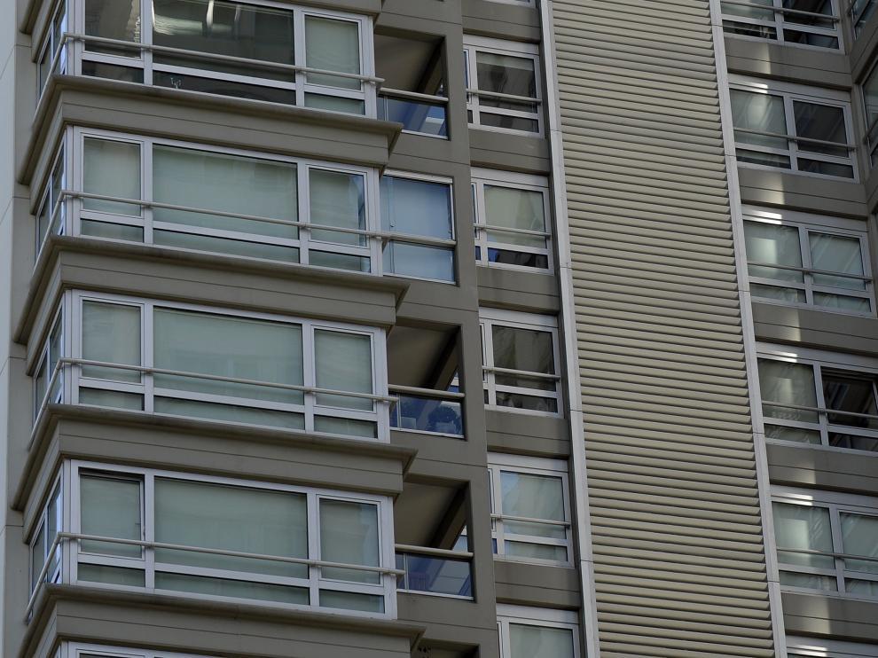 La fachada de la vivienda del fiscal