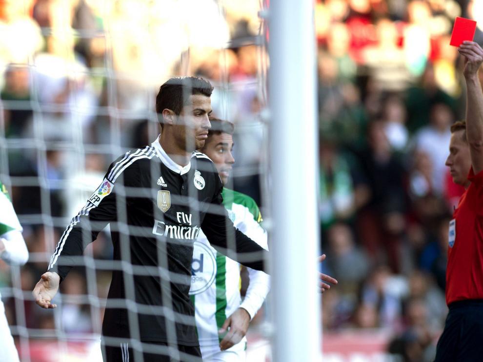 Expulsión de Cristiano Ronaldo con el Real Madrid
