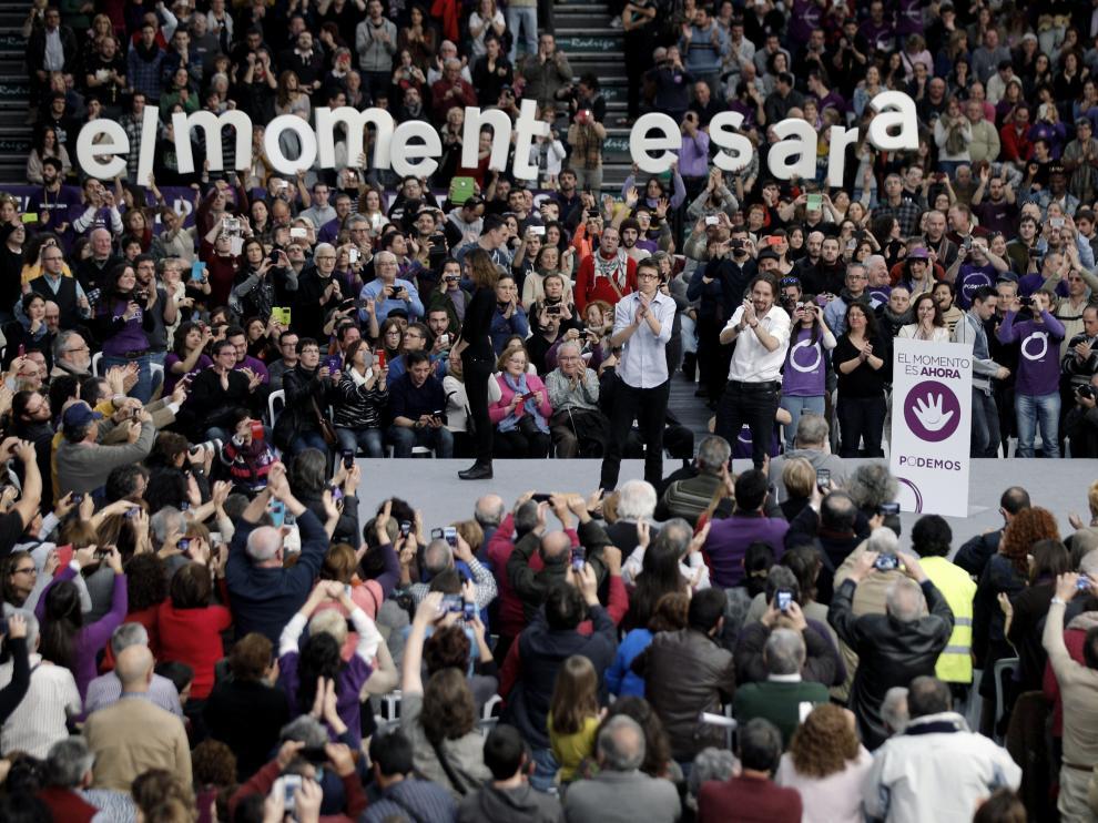Pablo Iglesias en el mitin de Valencia