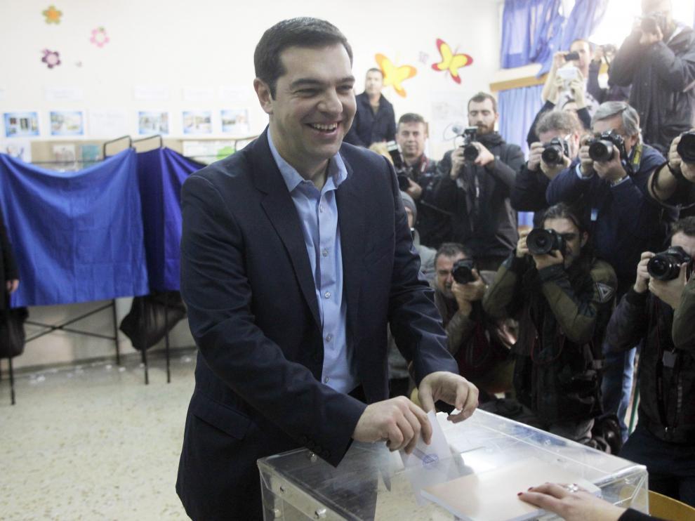 Alexis Tsipras vota en las elecciones