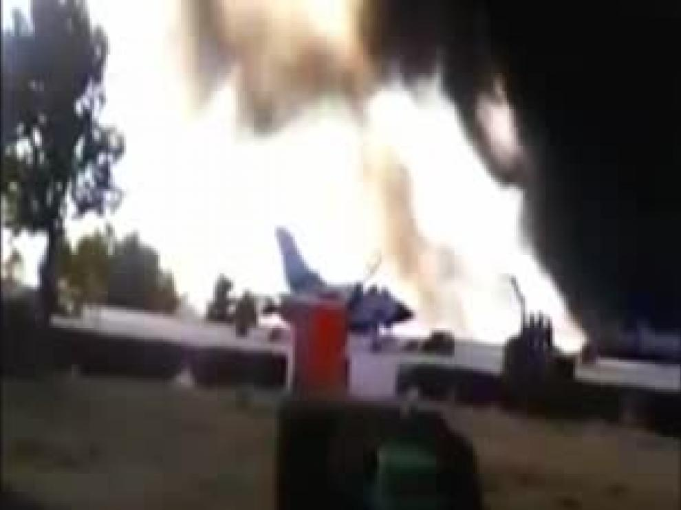 Un caza F16 griego se estrella en la base de Los Llanos, Albacete