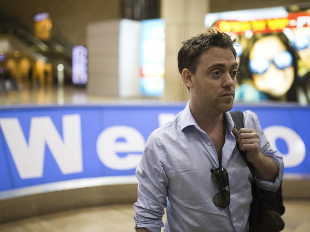 Damián Pachter, a su llegada al aeropuerto de Tel Aviv