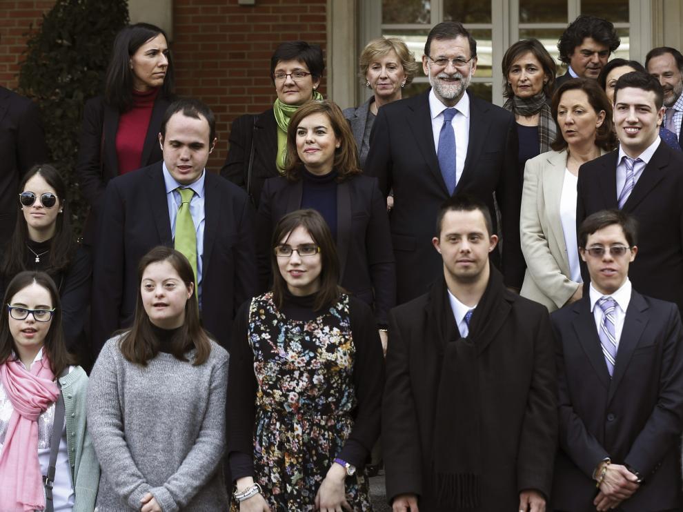Rajoy y Saénz de Santamaría tras la firma del convenio