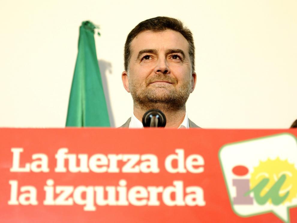 El coordinador de IU en Andalucía, Antonio Maíllo
