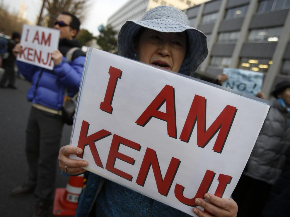 'Yo soy Kenji', campaña para liberar al rehén en manos del EI