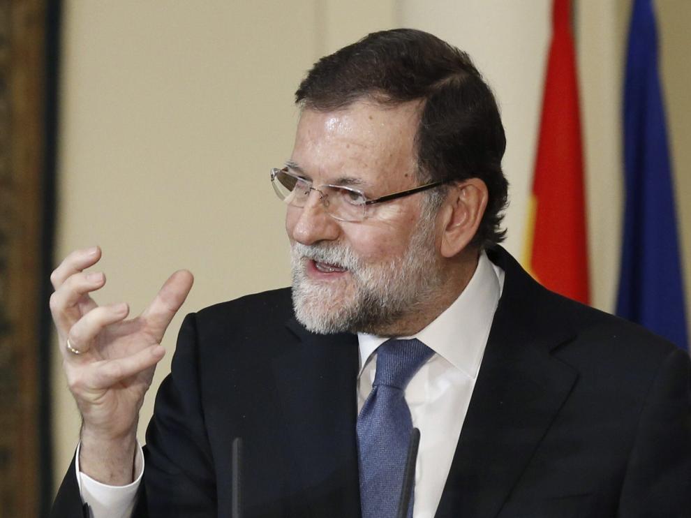 Mariano Rajoy en un acto este lunes
