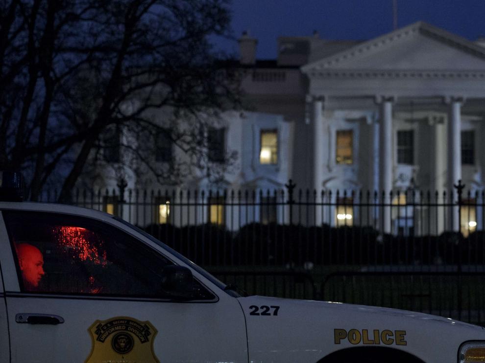 Un dron cae en el jardín de la Casa Blanca