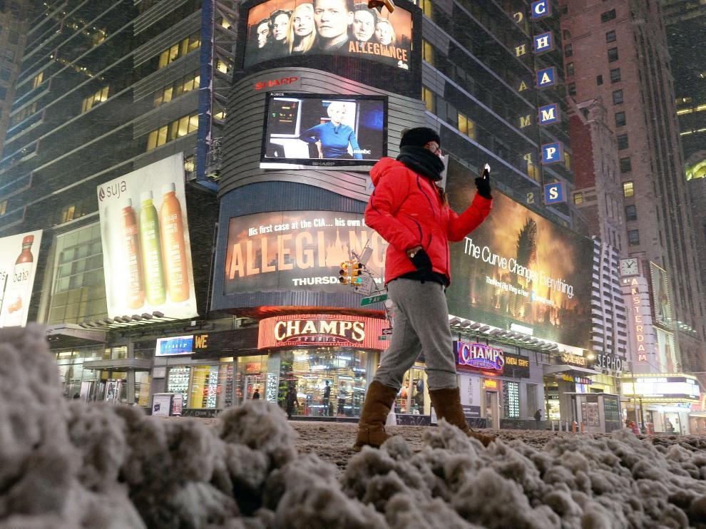 El pronóstico es que la nieve que caiga llegue a estar por encima del medio metro.