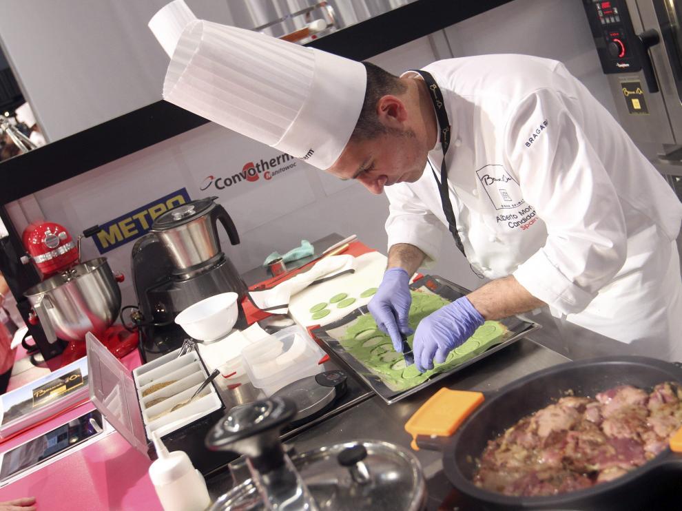 El chef Alberto Moreno en el concurso Bocuse d'Or
