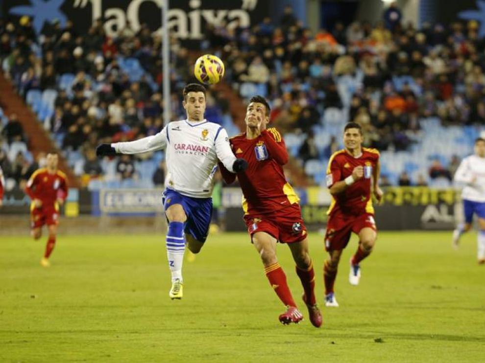 Encuentro entre el Real Zaragoza y el Recreativo de Huelva