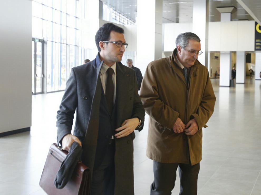 Ricardo García Becerril a su llegada al juzgado