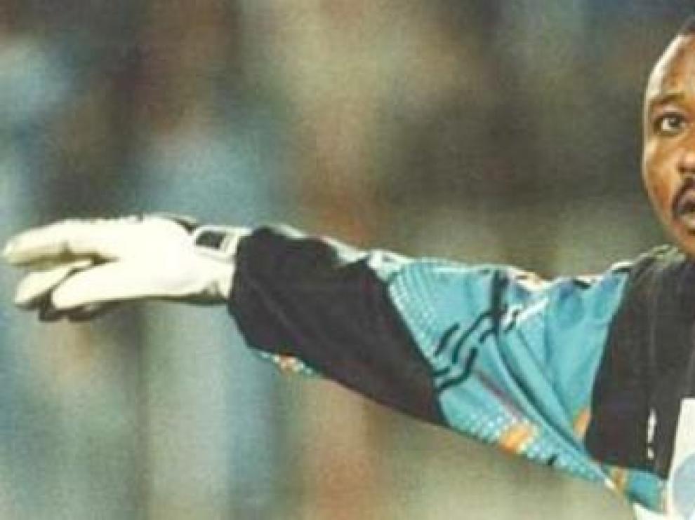 Wilfred Agbonavbare fue portero del Rayo entre 1990 y 1996
