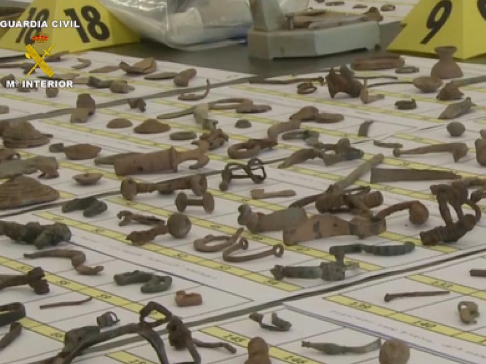 Imagen de archivo de piezas arqueológicas interceptadas
