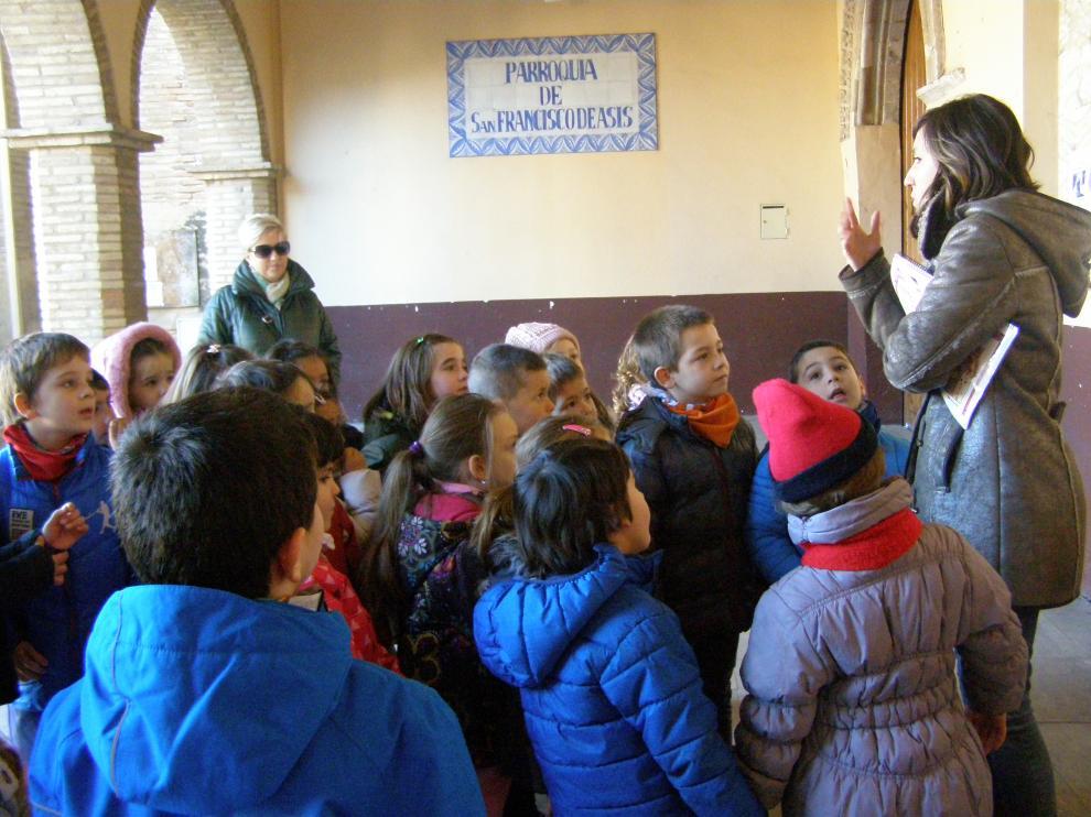 Último grupo de escolares que ha visitado el exconvento de San Francisco.