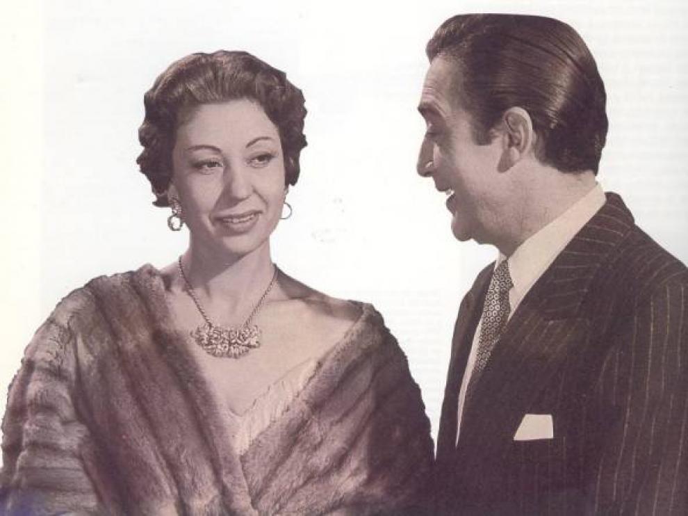 Carmen Morell junto a Pepe Blanco