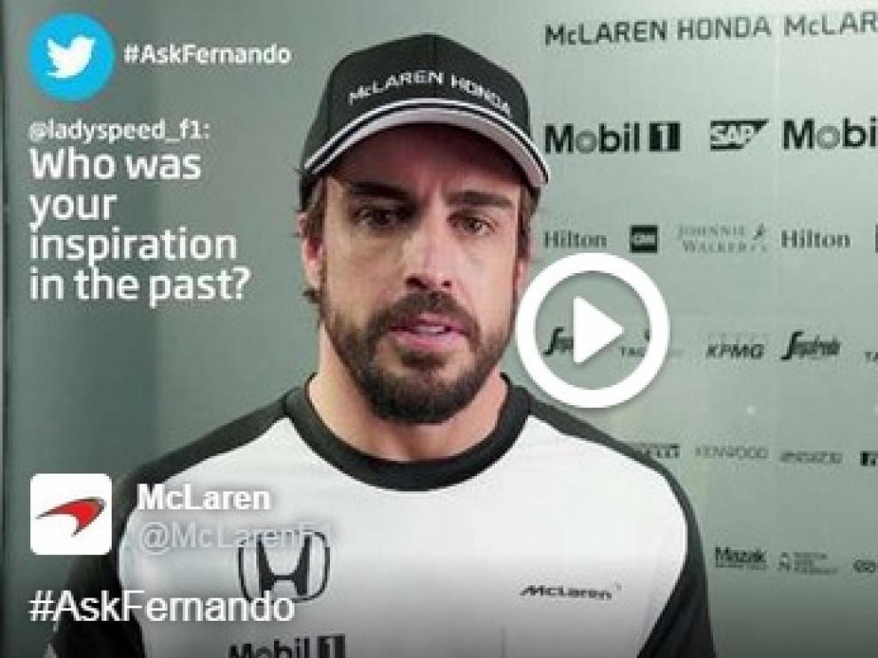 Fernando Alonso responde en McLaren
