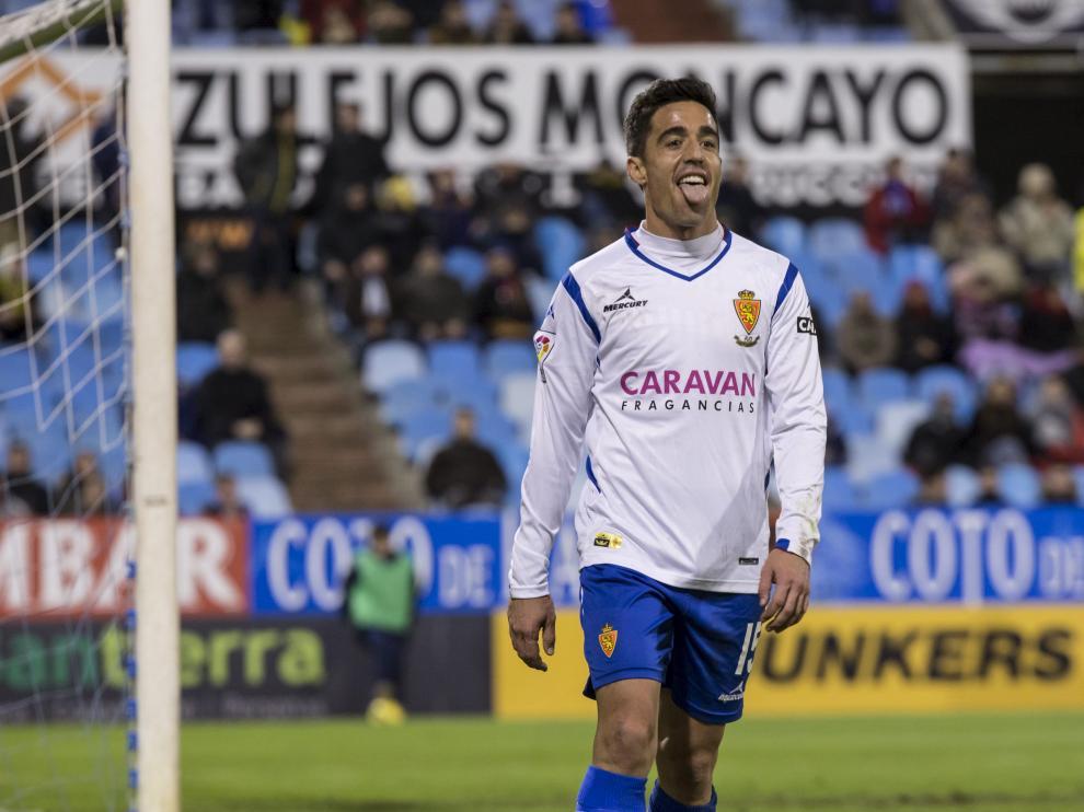 Pedro, durante el partido contra el Recreativo