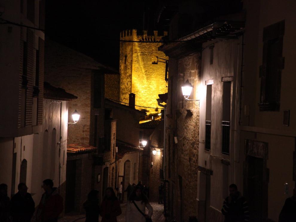 Nueva iluminación en la Iglesuela del Cid