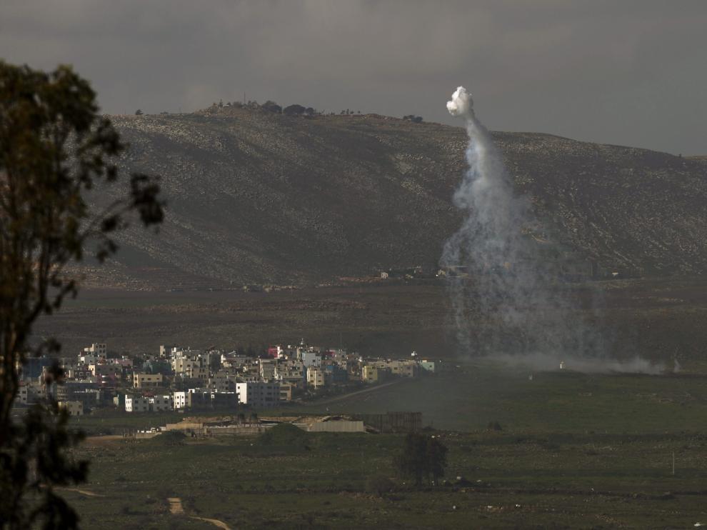 Israel lanzó varios cohetes en la zona