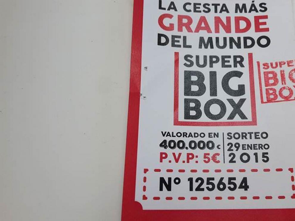 Imágen del número agraciado de la SuperBigBox.