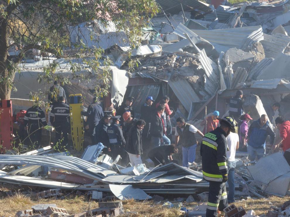 Una parte del hospital quedó reducida a escombros