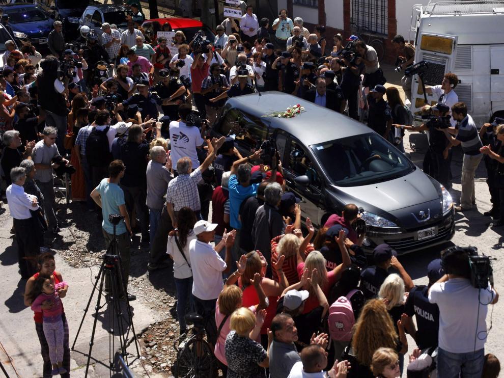 Cortejo fúnebre del fiscal Nisman