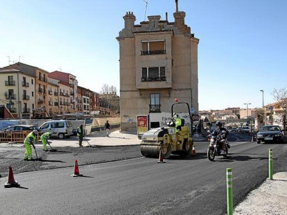 Operación asfalto en Teruel