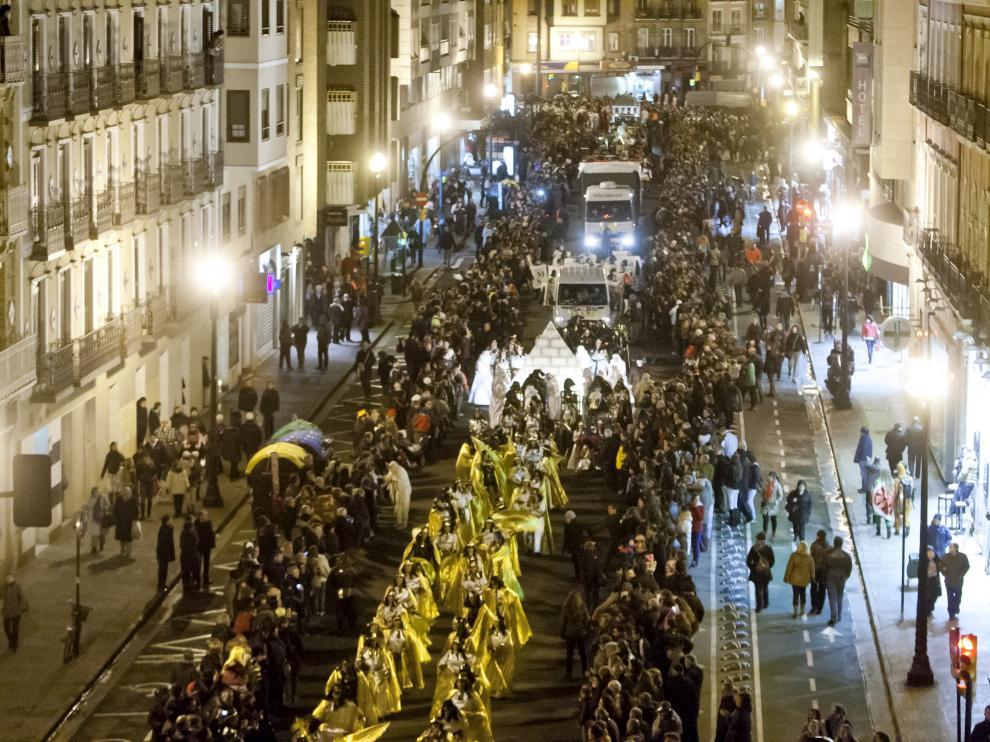 El desfile de Carnaval de Zaragoza en una imagen de archivo