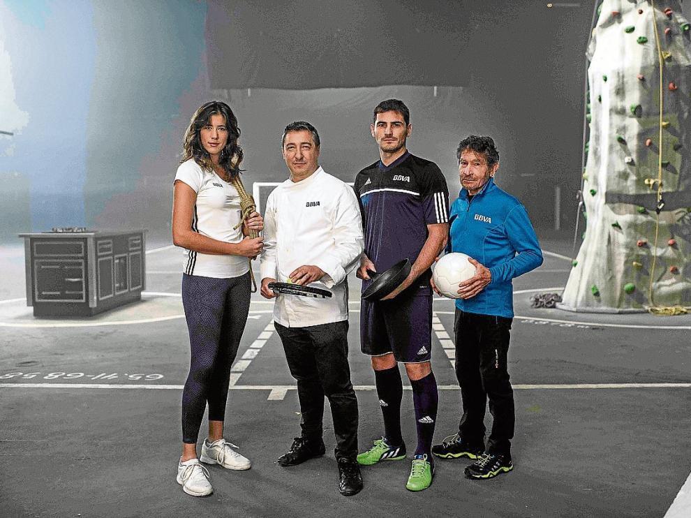 Garbiñe Muguruza, Joan Roca, Iker Casillas y Carlos Soria promueven la campaña