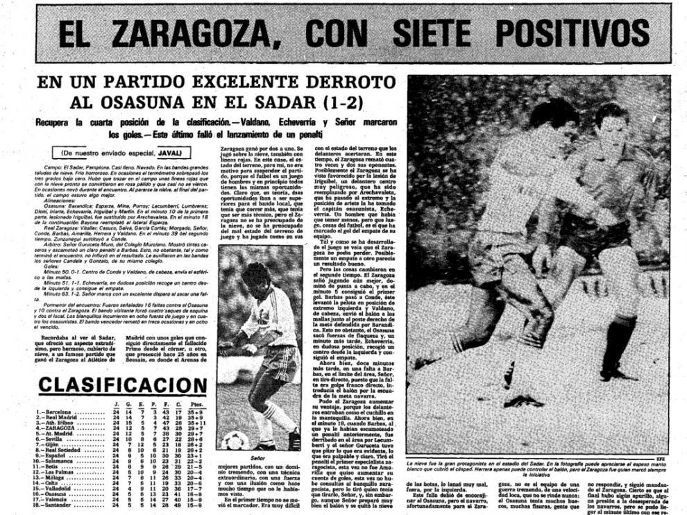 La crónica del Osasuna-Real Zaragoza de la temporada 1982/83