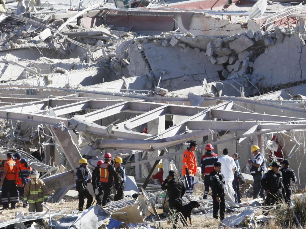 El hospital ha quedado reducido a escombros