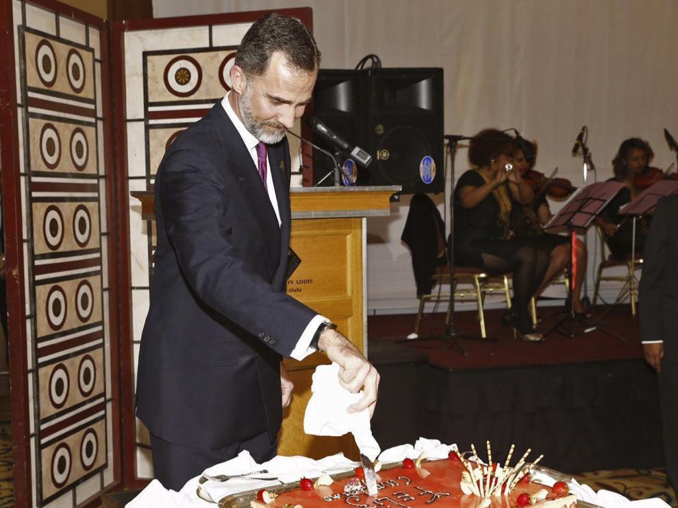 Felipe VI en una calurosa felicitación etíope