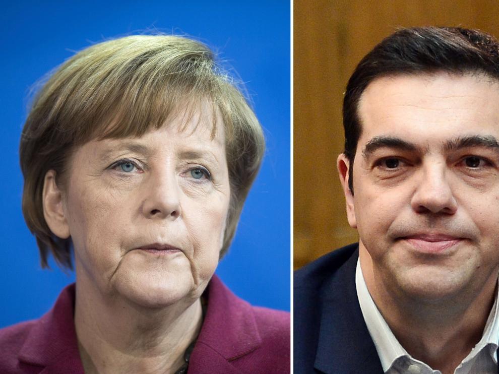 Merkel y Tsipras