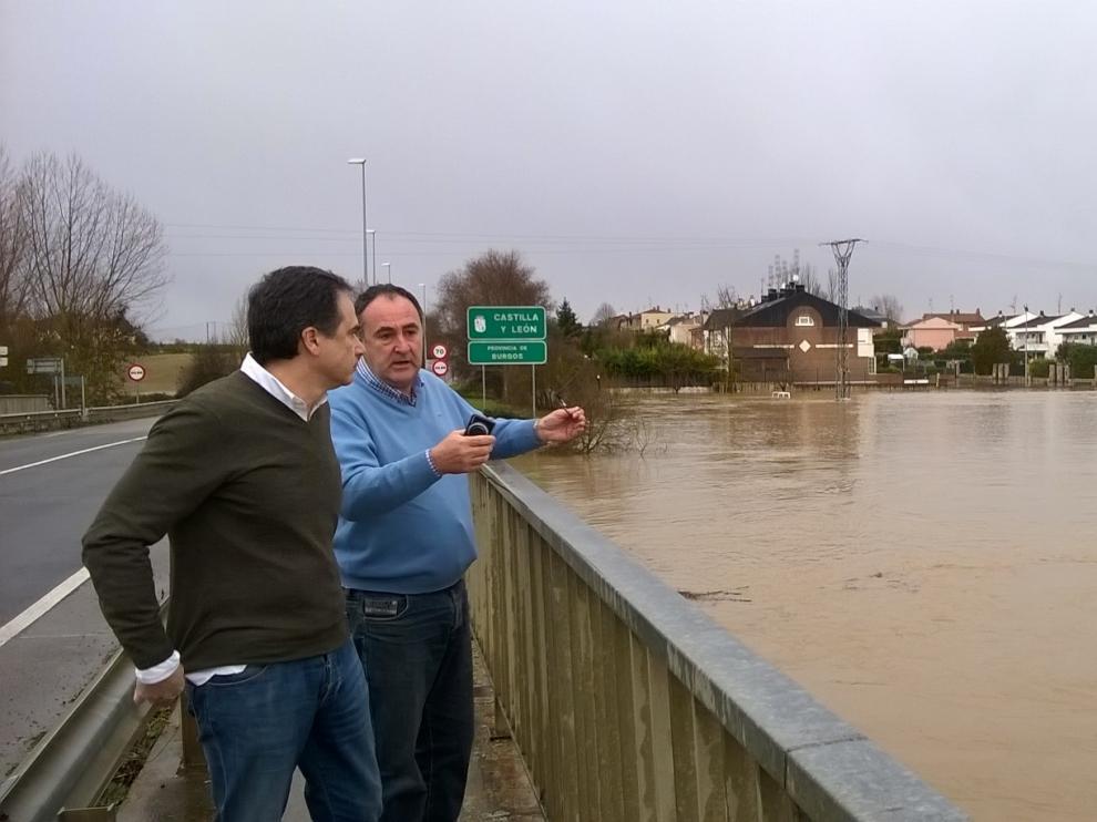 El caudal a su paso por Miranda de Ebro