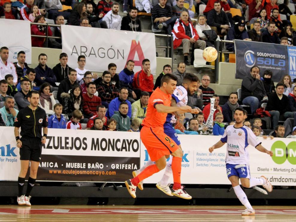 El D-Link Zaragoza empata contra el Barcelona