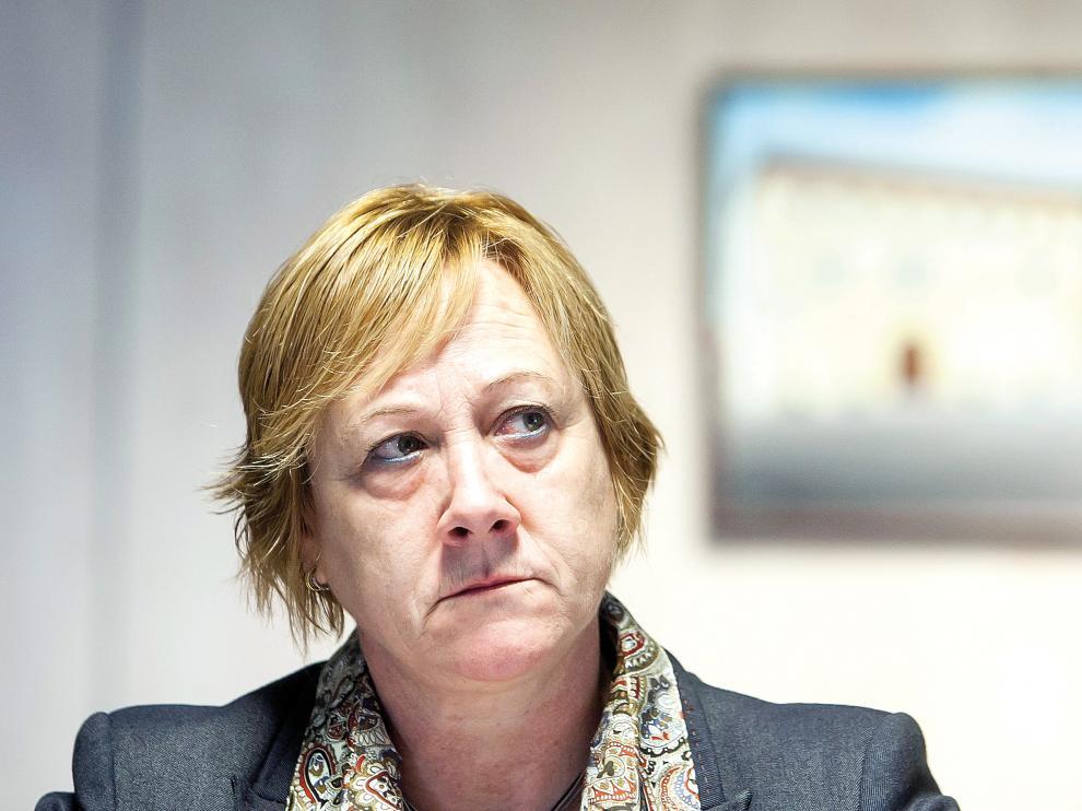La alcaldesa de La Muela, Marisol Aured, en su despacho, en una foto de archivo.