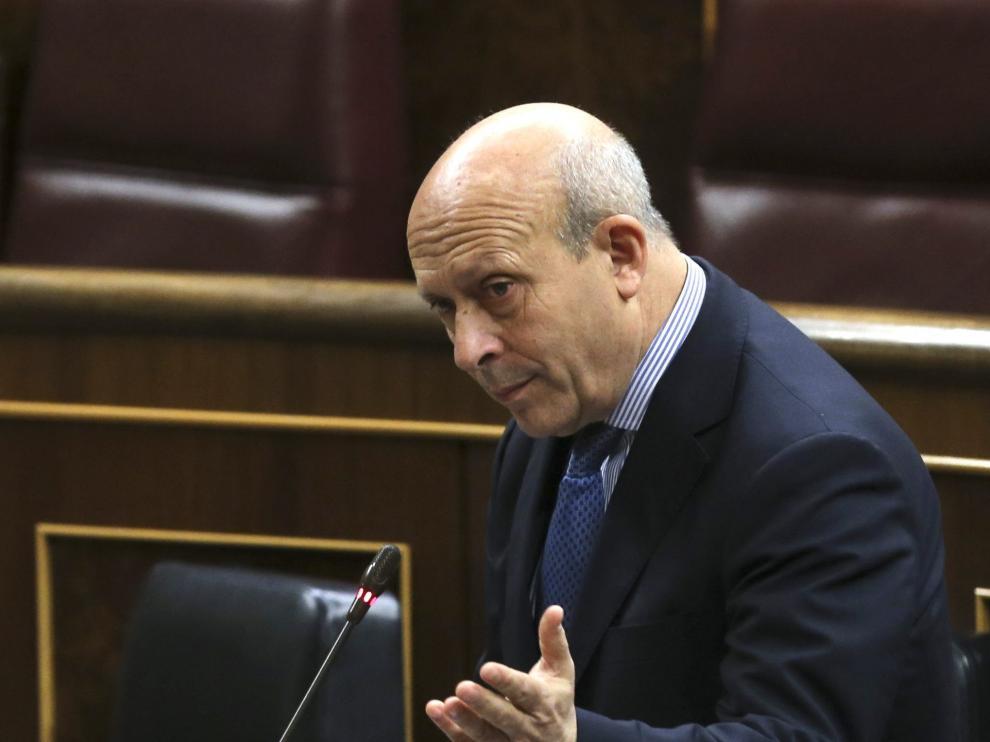 José Ignacio Wert en sesión de control al Gobierno