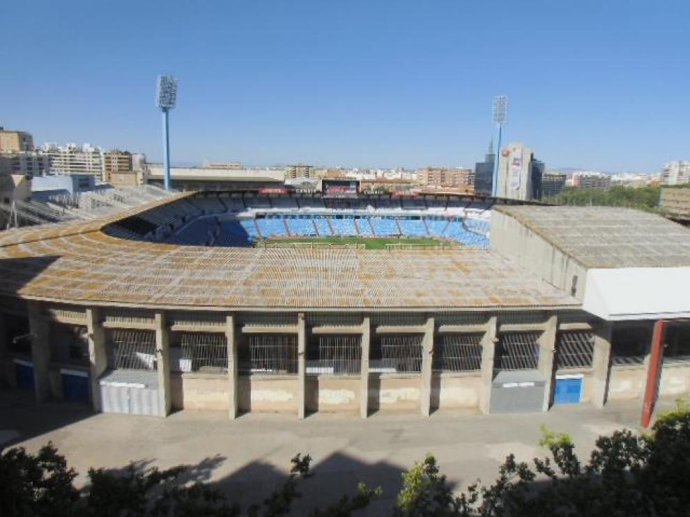Estadio de la Romareda.
