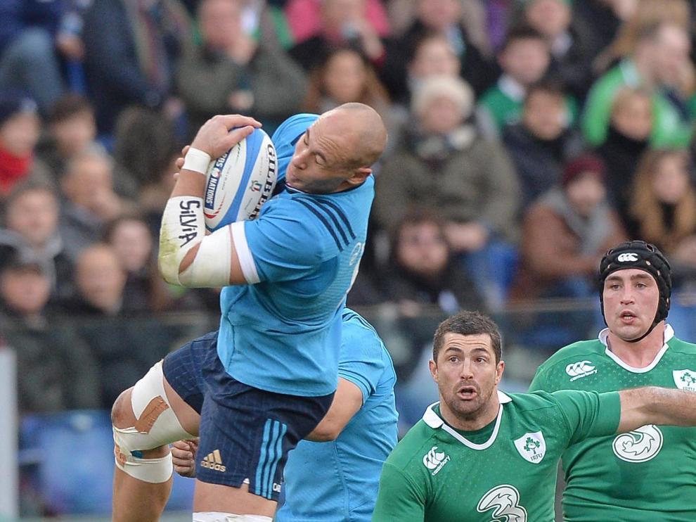 Imagen del partido de Italia contra Irlanda