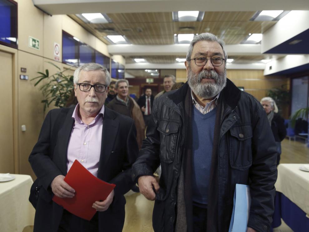 Toxo y Méndez, tras una de las reuniones