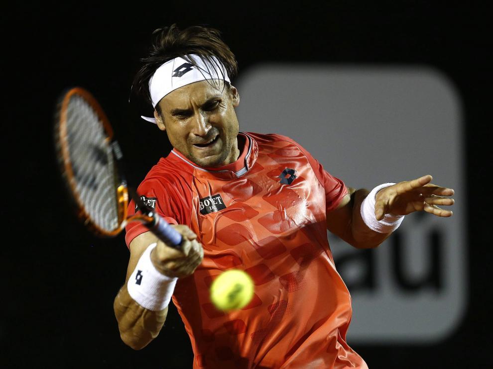David Ferrer en el partido contra Thiemo de Bakker